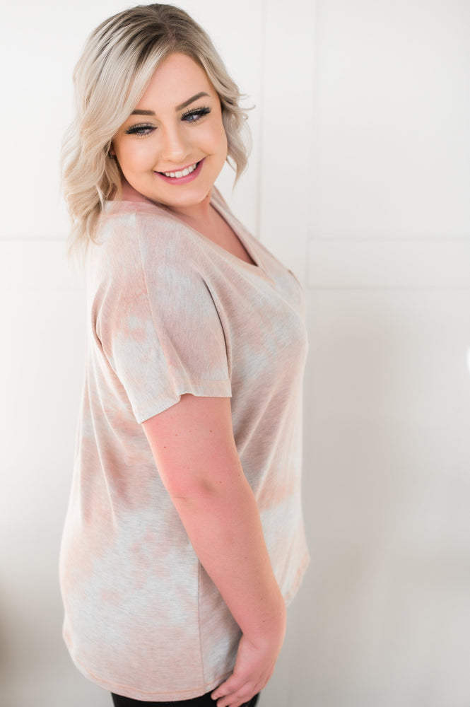 In The Pocket Blush Tie Dye Tops/Tunics - Kasey Leigh Boutique