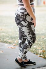 Strong To The Core In White Cloud Athletic Leggings - Kasey Leigh Boutique