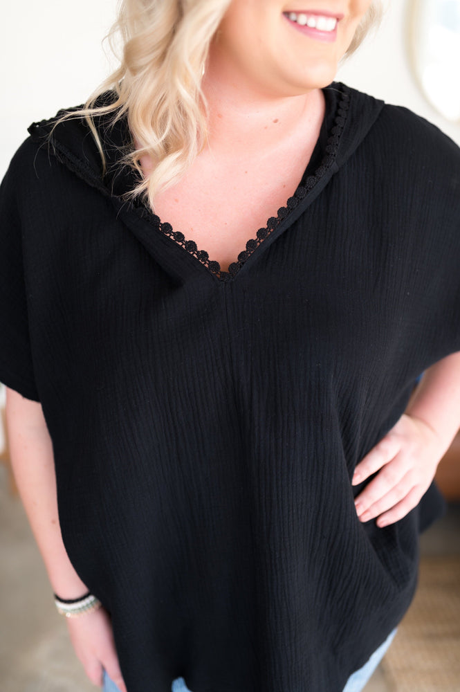 Hot Summer Night Hooded Top Layers - Kasey Leigh Boutique