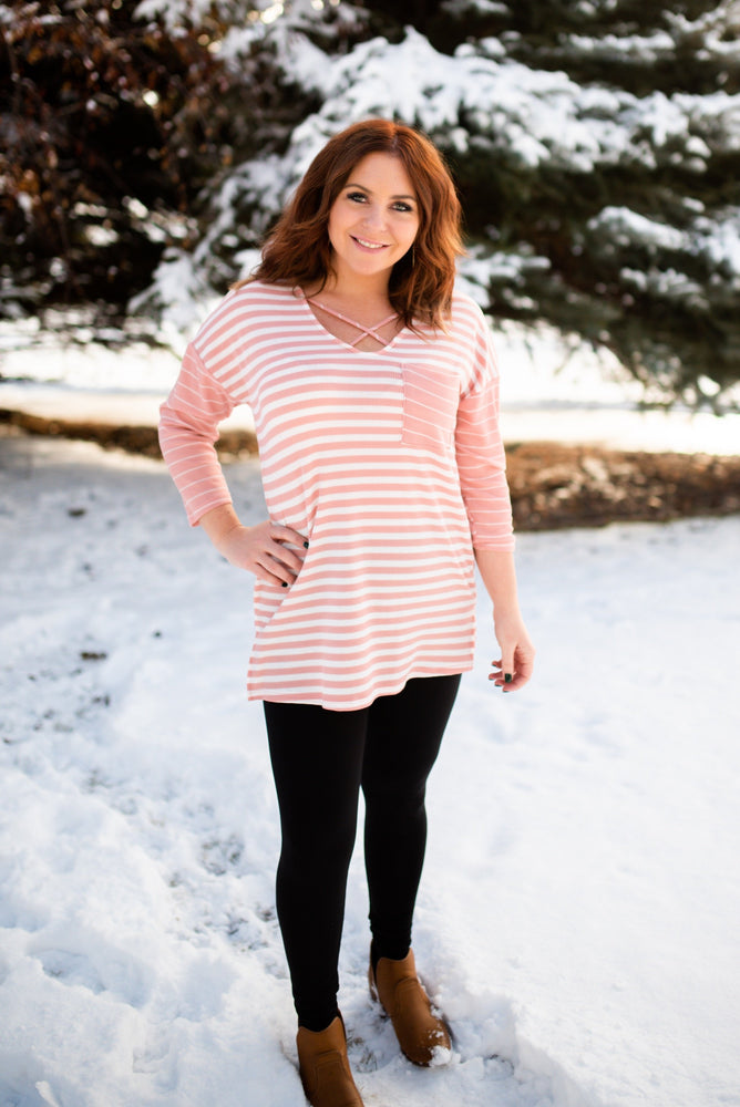 My Type Of Stripe Top - Kasey Leigh Boutique