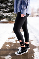 Stepping Up Black Capri Leggings - Kasey Leigh Boutique