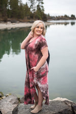 Strike Our Fancy Maxi Dress In Dragon Fruit Colors Dresses - Kasey Leigh Boutique