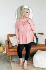 I'm Right On Top Of That In Leopard Rose Tops/Tunics - Kasey Leigh Boutique