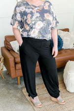 Split The Difference Side Tie Pants Bottoms - Kasey Leigh Boutique