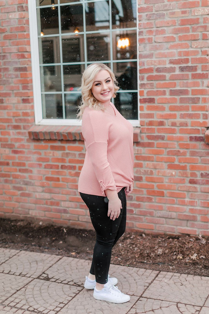 Color Me Impressed In Bashful Pink Tops/Tunics - Kasey Leigh Boutique