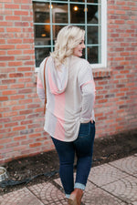 Read Between The Lines Hooded Top - Kasey Leigh Boutique