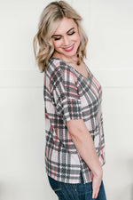 Don't Make Me Plaid Top Tops/Tunics - Kasey Leigh Boutique