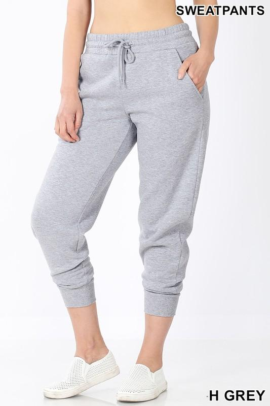Classic Sweatpants-  Heather Grey