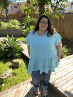 Cool Mint Tiered Tunic - Small only - Kasey Leigh Boutique
