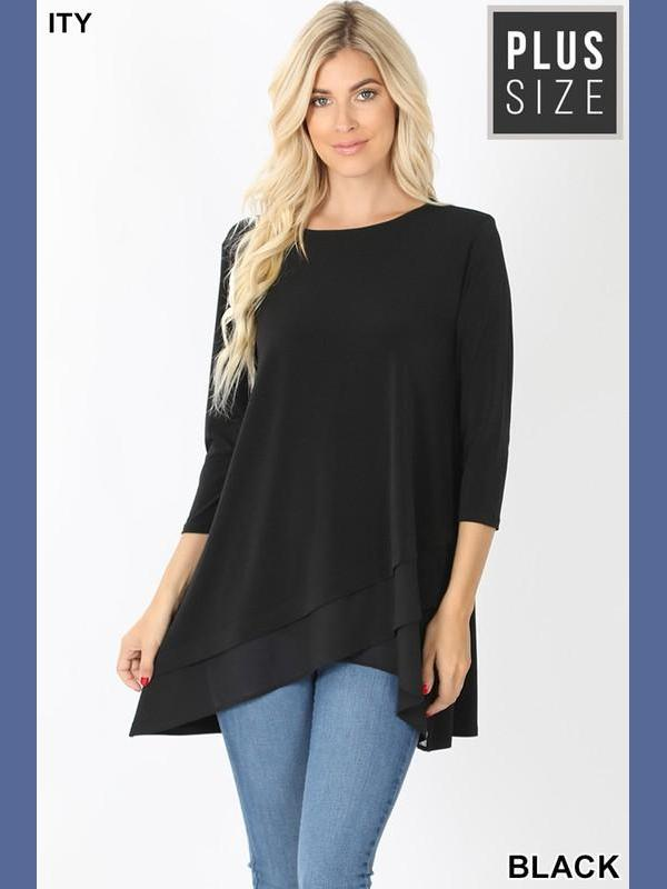 Criss Cross Tunic - Black