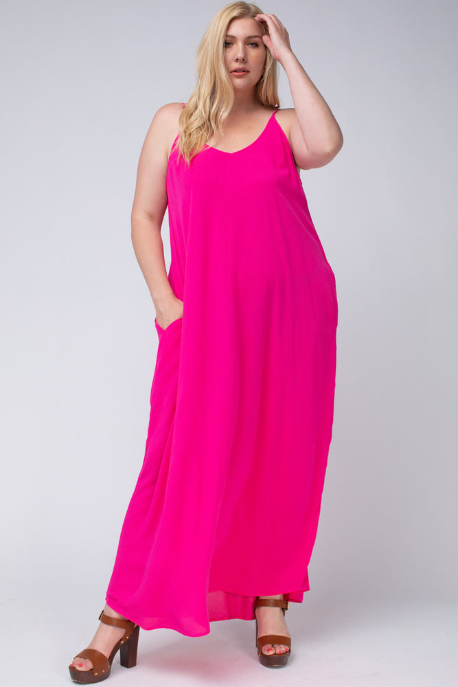 Bright Lights Maxi in HOT HOT Pink (curvy only)