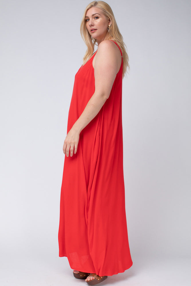 Bright Lights Maxi in Red (curvy only) Dresses - Kasey Leigh Boutique
