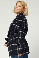 Shawl Collar Self Tie Jacket - Curvy Layers - Kasey Leigh Boutique