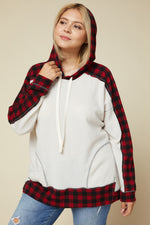 I'm Falling for Plaid Hoodie - Kasey Leigh Boutique