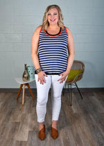 Girl At Sea Racerback Tank-Tops/Tunics-Kasey Leigh Boutique