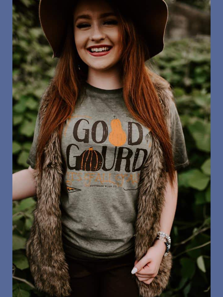 Good Gourd, It's Fall Y'All Short Sleeve Tee