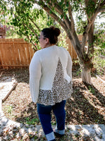 Leaping Linen Peplum Top - Kasey Leigh Boutique