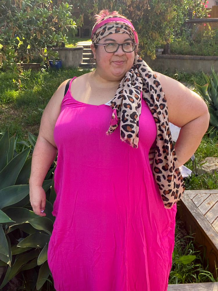 Bright Lights Maxi in HOT HOT Pink (curvy only) Dresses - Kasey Leigh Boutique