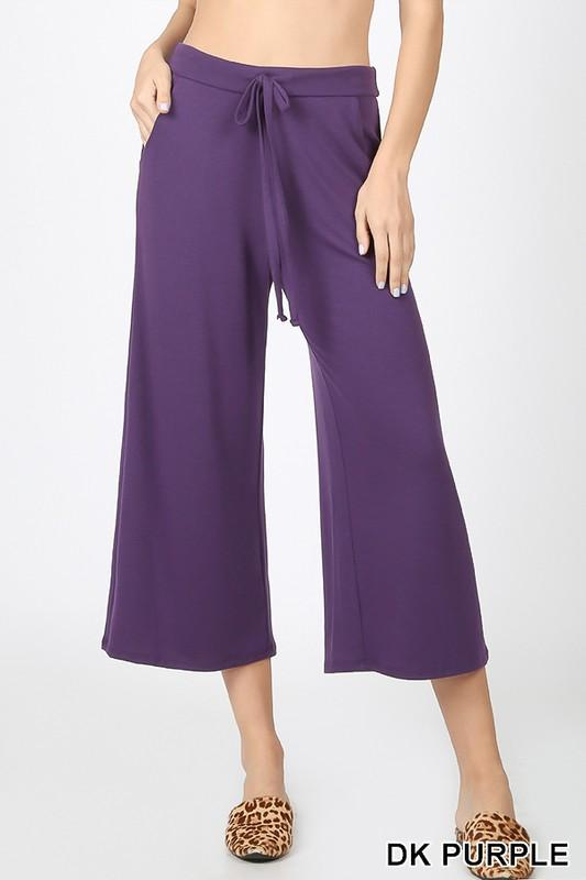 KLB Essential Cropped Lounge Pants - Dk Purple