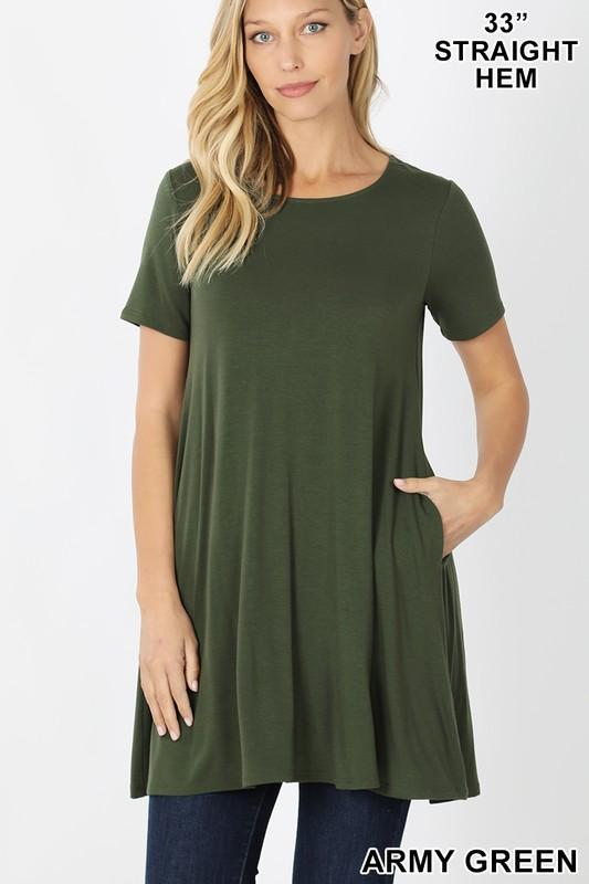 KLB Essential Swing Tunic - Army Green