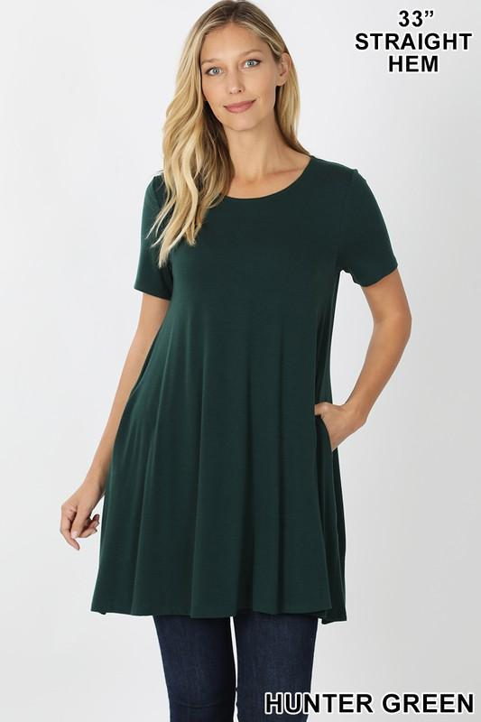 KLB Essential Swing Tunic - Hunter Green