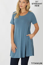 KLB Essential Swing Tunic - Titanium