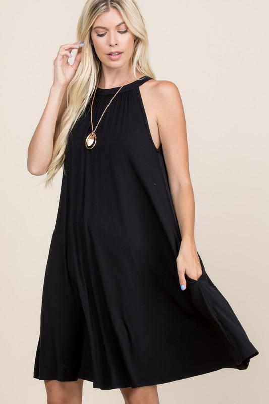 My Little Black Swing Dress - Kasey Leigh Boutique