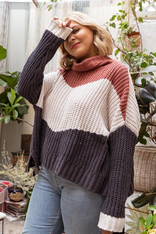 POL Oversized Turtlneck Pullover - Curvy-Layers-Kasey Leigh Boutique