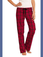 Red Plaid Flannel Lounge Pants