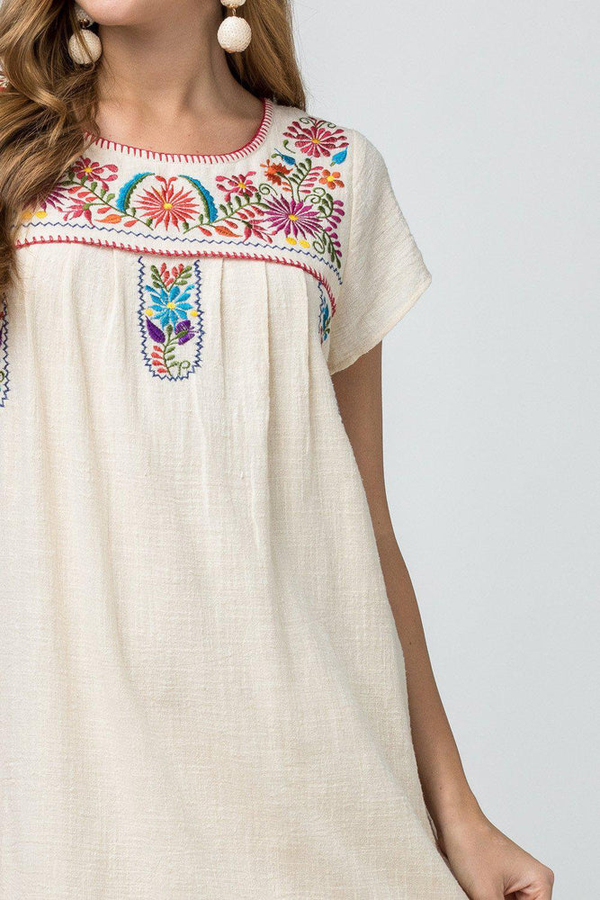 Summer Senorita Embroidered Dress-Dresses-Kasey Leigh Boutique