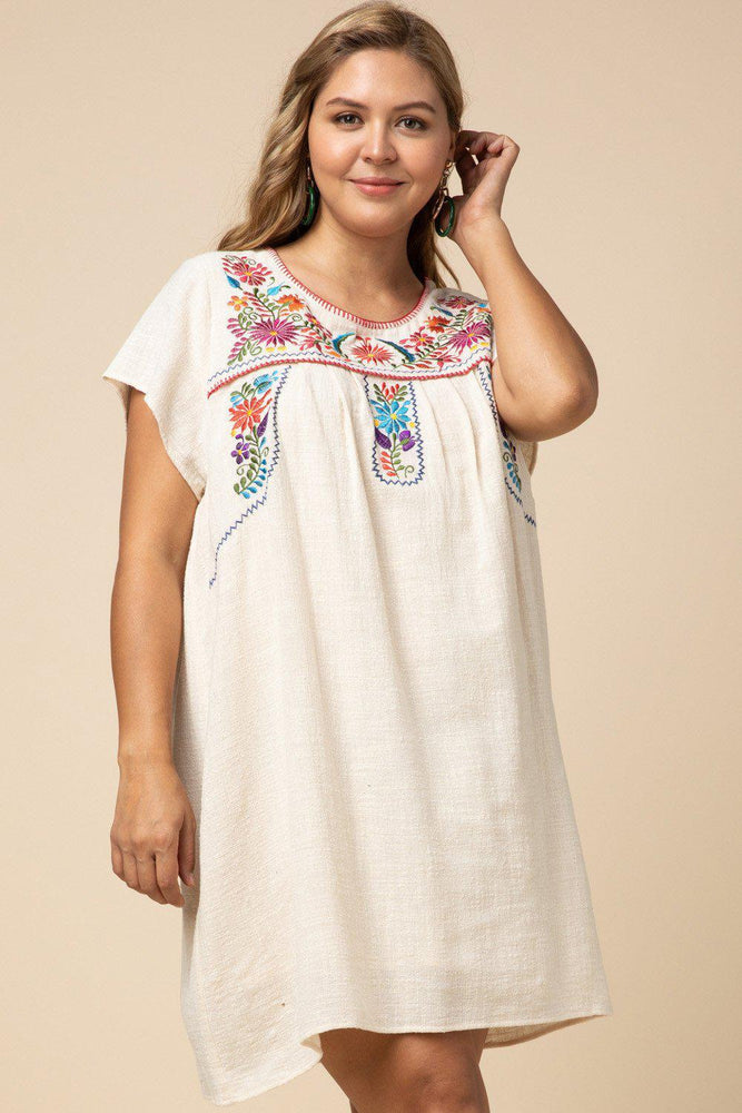 Summer Senorita Embroidered Dress