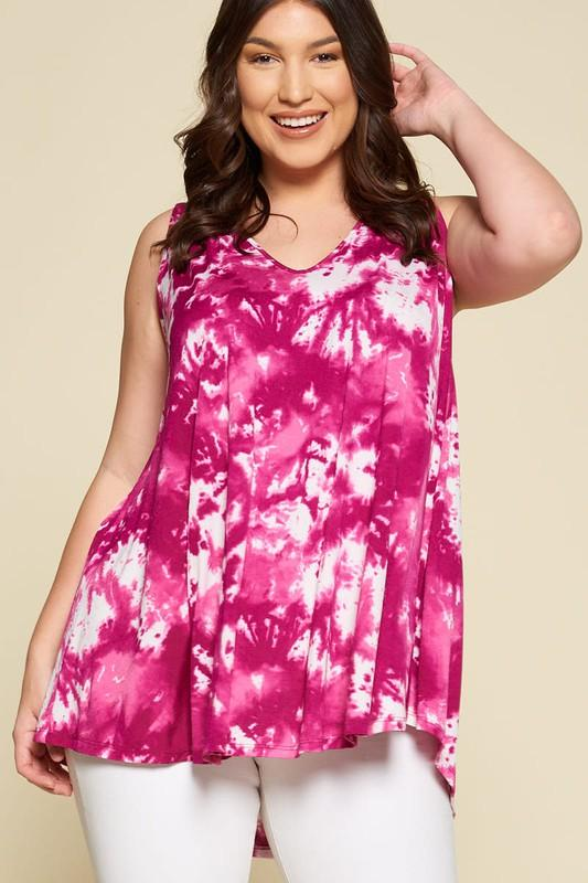 Super Swing Tank in Deep Magenta - Kasey Leigh Boutique