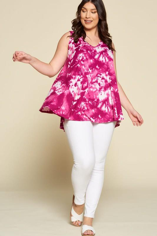 Super Swing Tank in Deep Magenta-Tops/Tunics-Kasey Leigh Boutique