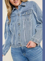 Trucker Girl Denim Jacket-Layers-Kasey Leigh Boutique