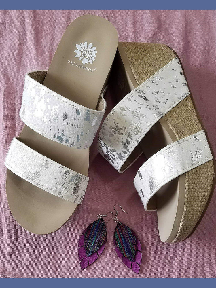 569132ab5ce5 Yellow Box Bandos Wedge Sandal in White