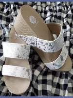 Yellow Box Bandos Wedge Sandal in White-Shoes-Kasey Leigh Boutique