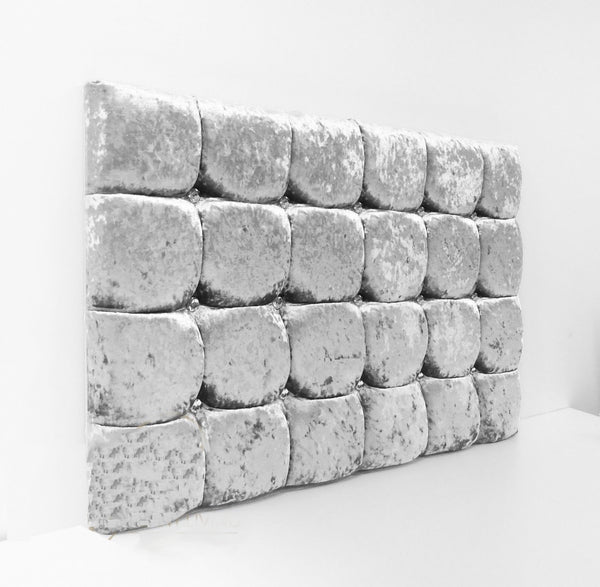 "Super Cubed Crushed Velvet Headboard 24"" Tall"