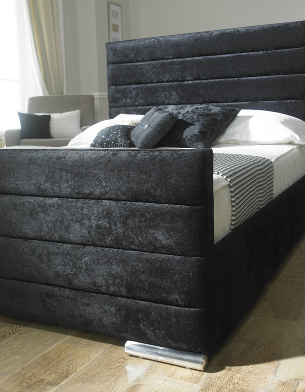 Chester Black Crushed Velvet Bed Frame