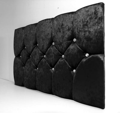 Monte Carlo Crushed Velvet Diamante Headboard