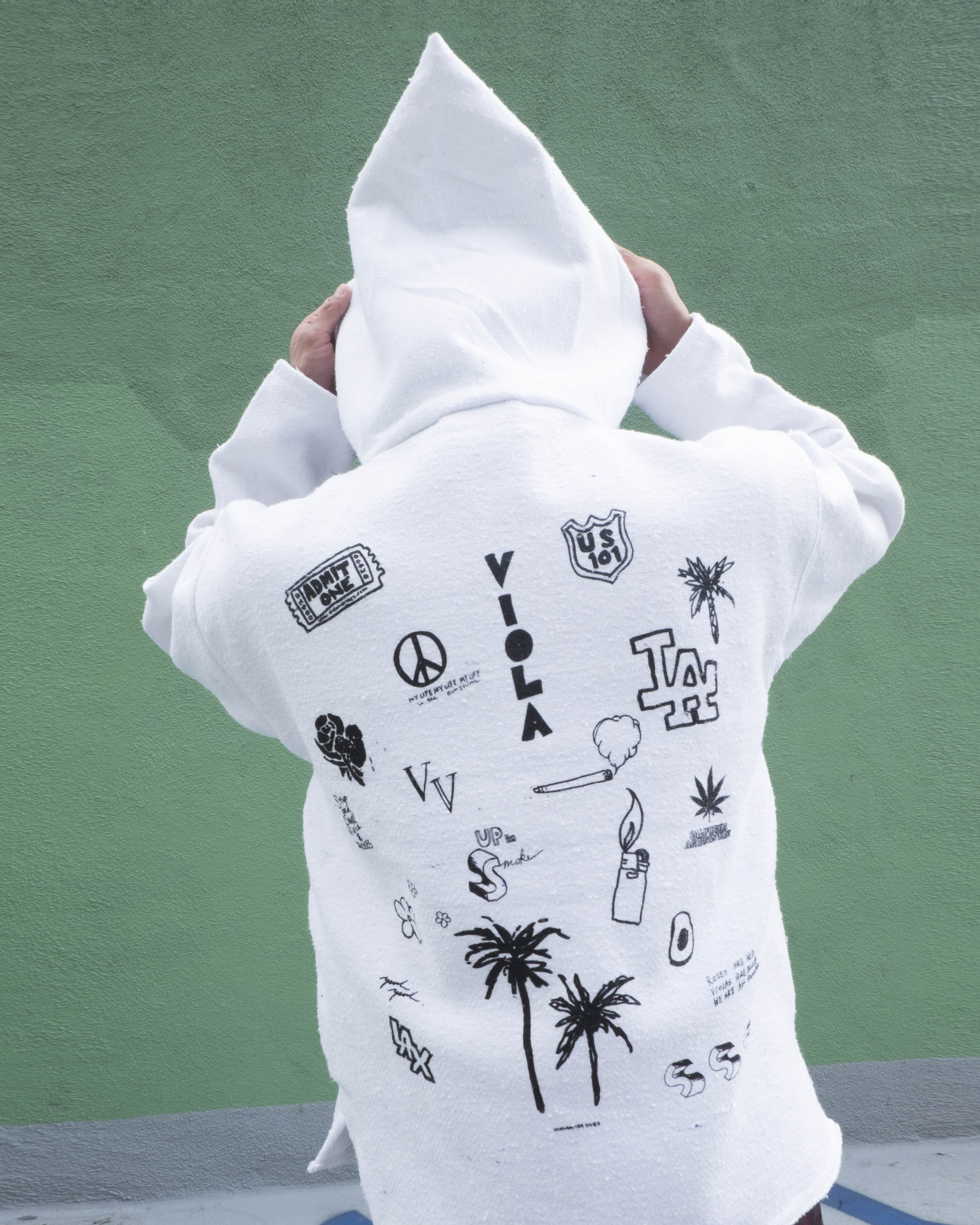 HOLLYWOOD HAND DRAWING MEXICAN HOODIE