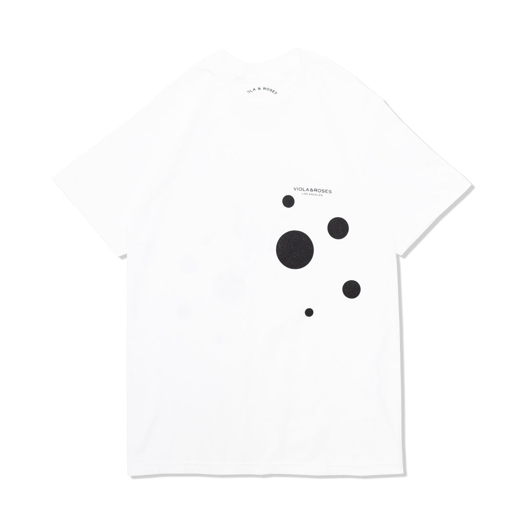 DOTS S/S TEE WHITE/BLACK