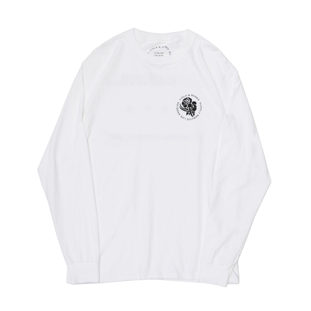 HAVING FUN L/S TEE WHITE