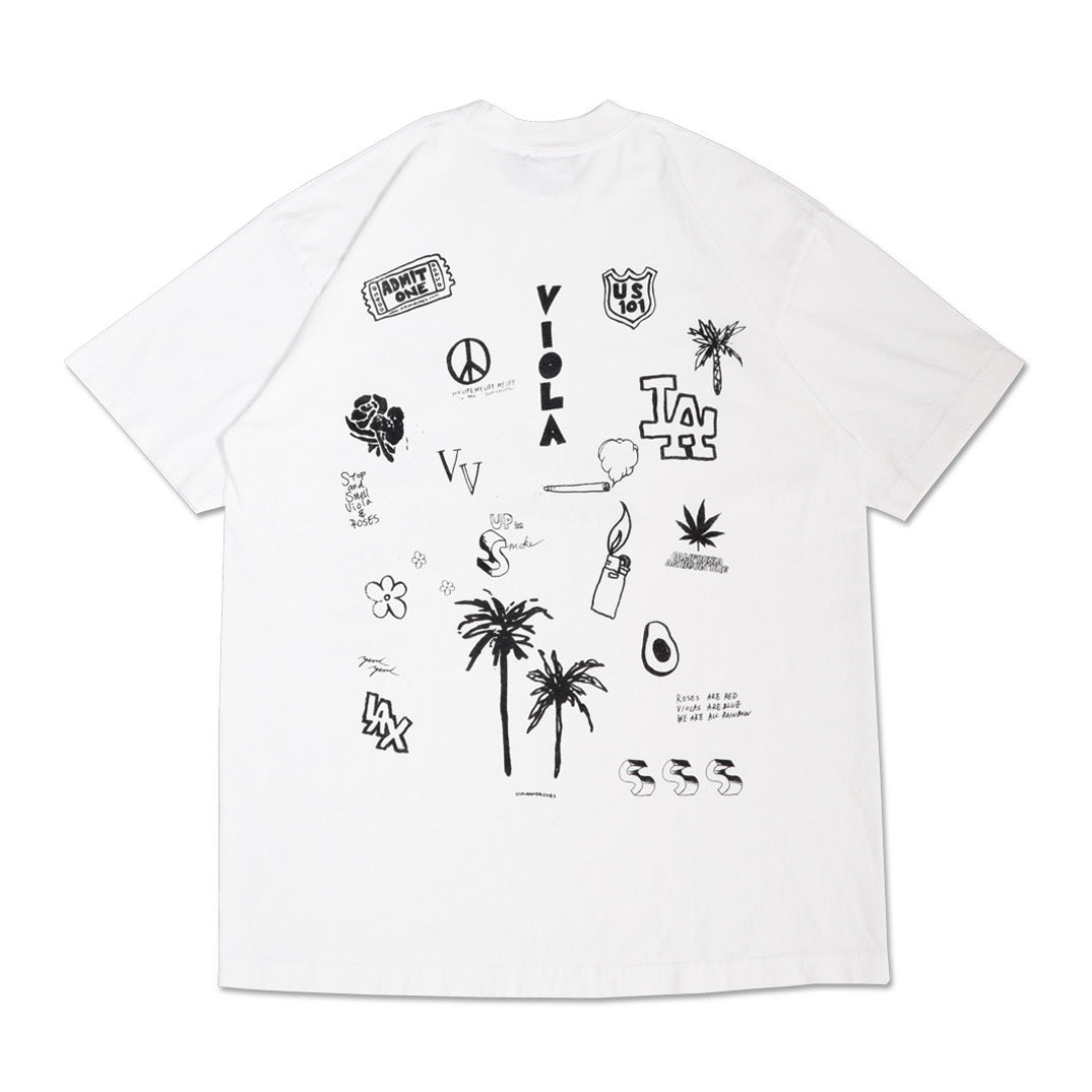 HOLLYWOOD HAND DRAWING S/S T-shirts Black