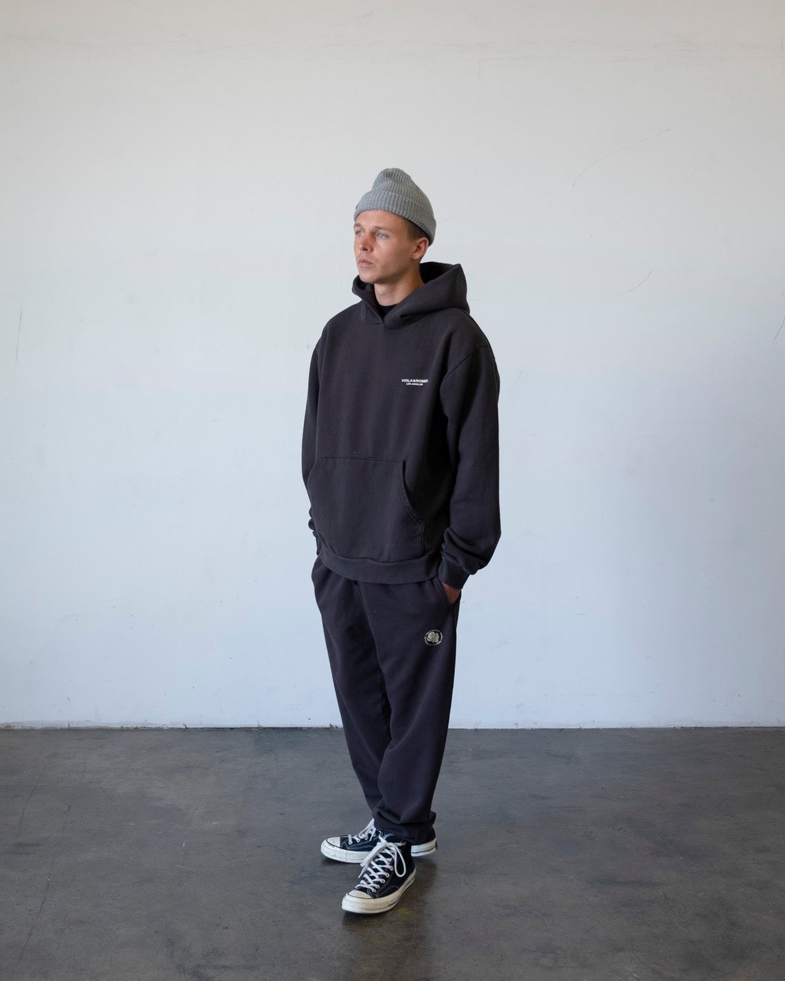 V&R NO.001 OVERSIZED FIT HOODIE CHARCOAL