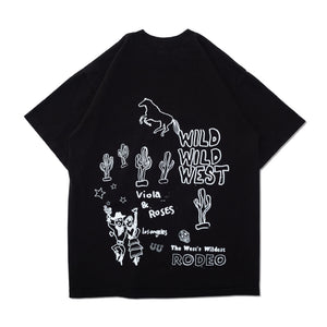 RODEO S/S TEE SHIRT BLACK
