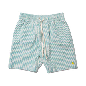STRIPED SEERSUCKER DRAWCORD SHORTS MINT