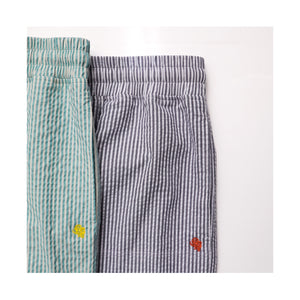 STRIPED SEERSUCKER DRAWCORD PANTS MINT