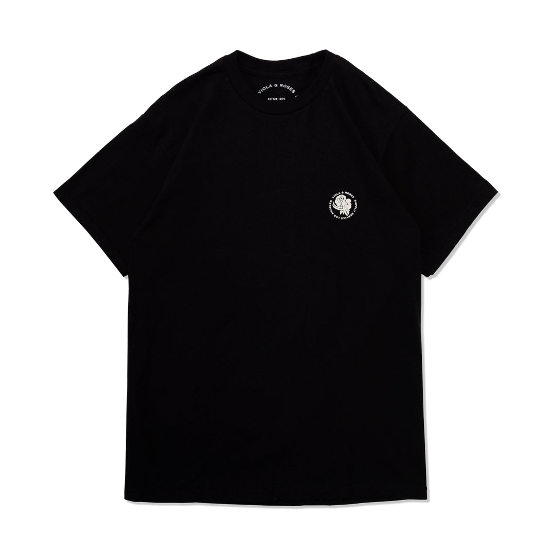 BOX TYPO S/S TEE BLACK