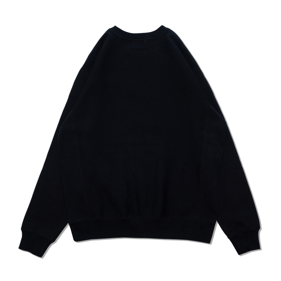 VAR EMBROIDERED CREWNECK SWEATSHIRT BLACK