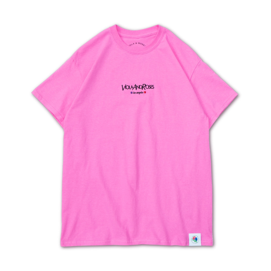 VAR21 EMBROIDERED S/S TEE PINK